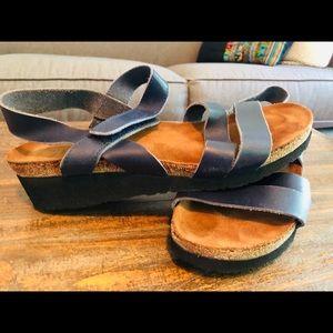 NAOT sandals navy women's  euro 39, size 9